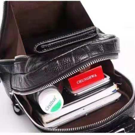 クロコダイル ボディバッグ 貴重品 ワニ革 メンズ ビジネスバッグ 総本革 斜め掛けバッグ _画像4