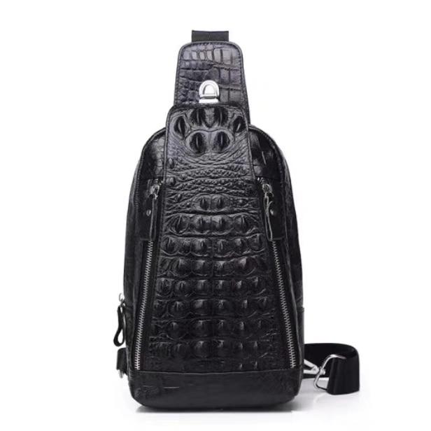 クロコダイル ボディバッグ 貴重品 ワニ革 メンズ ビジネスバッグ 総本革 斜め掛けバッグ