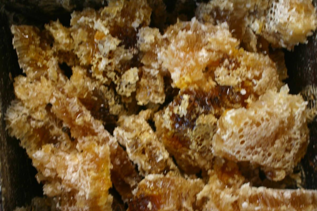 ◎日本蜜蜂 ハチミツ 採りたて爽やかはちみつ 600gお徳用 2本セット 送料無料_画像3