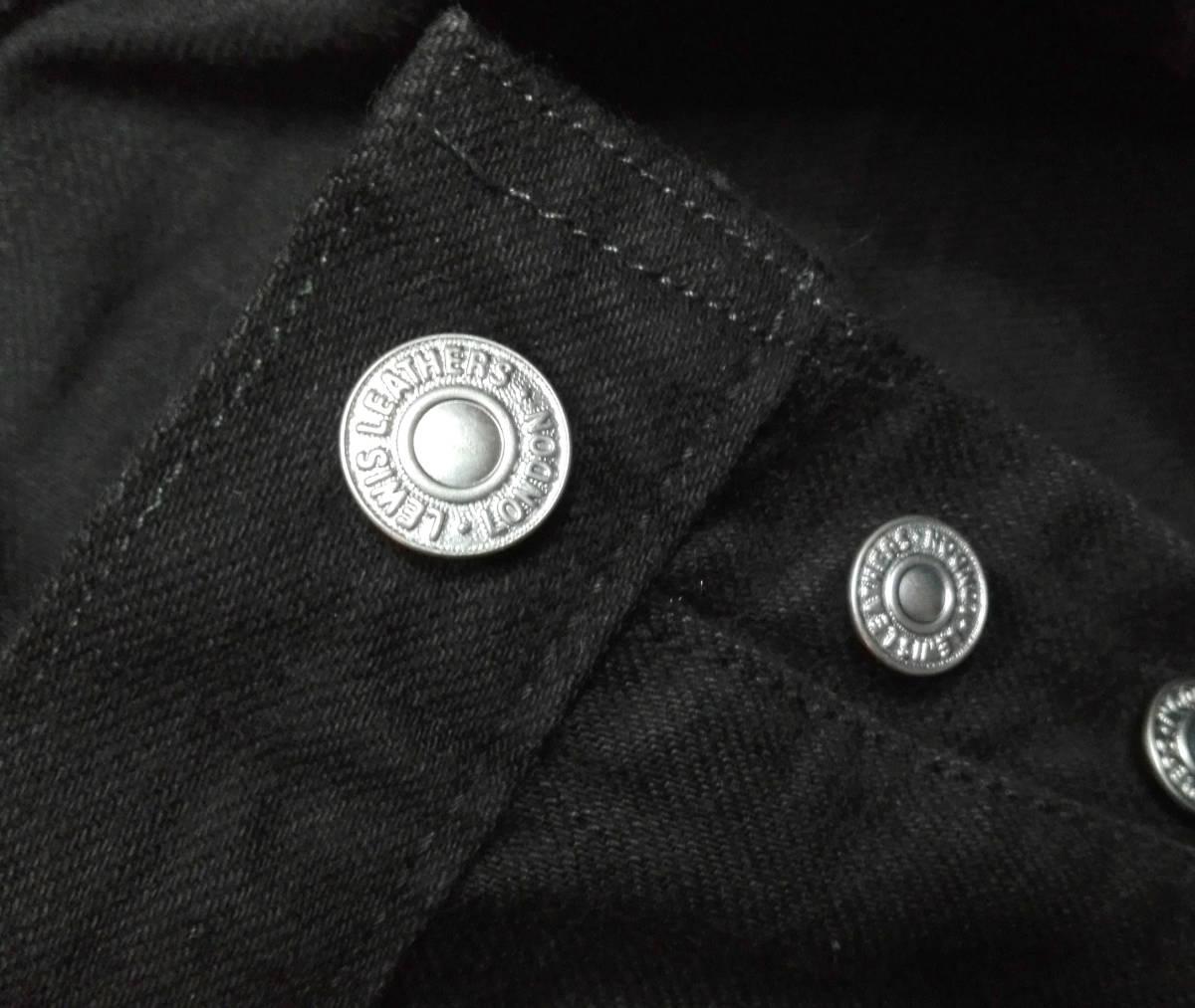 買取キング■正規美品ルイスレザーブラックデニム36/LEWIS LEATHER/税込/_画像10