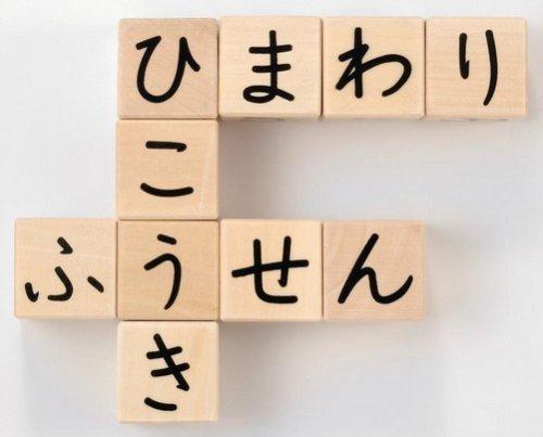 ひらがなさいころつみき 立方体のつみきの5面にひらがなが書かれています 積み木をしながらひらがなやことばの習得にも最適 G283_画像3