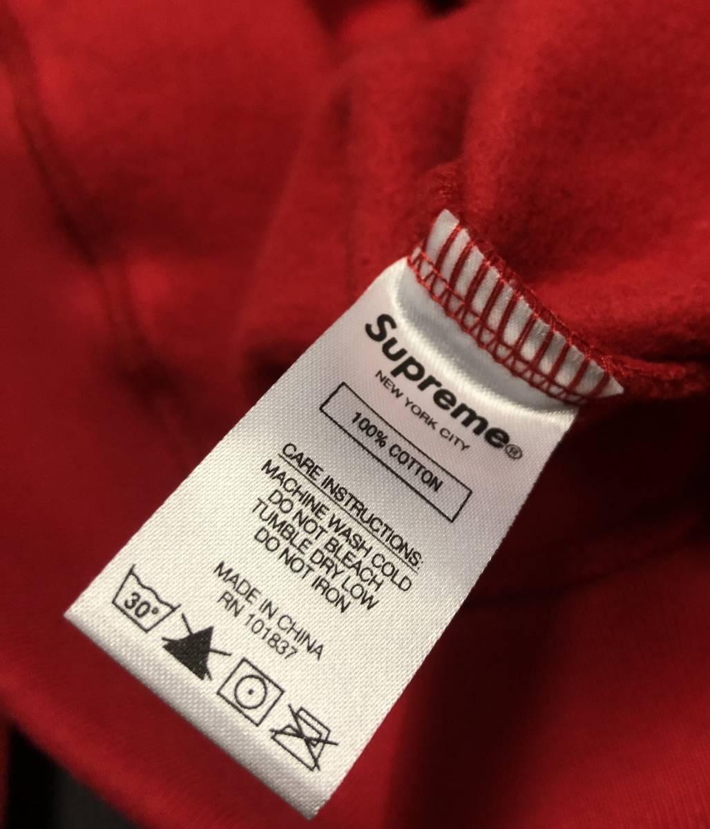 国内 正規品 19AW Supreme Spread Logo Hooded Sweatshirt RED Mサイズ 新品 シュプリーム スプレッド ロゴ フーデッド パーカー 赤 19FW_画像3