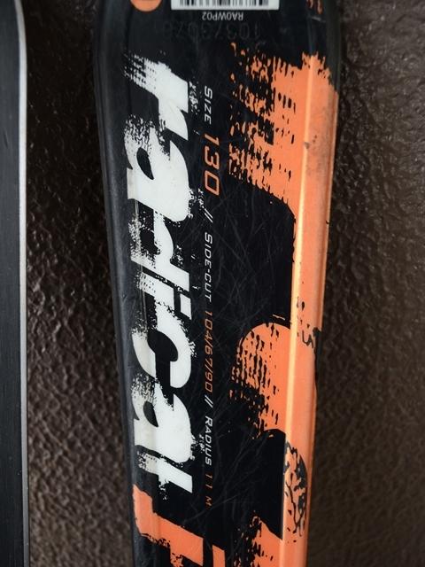 ROSSIGNOL ロシニョール RADICAL J 130cm ジュニアスキー ビンディング セット_画像4
