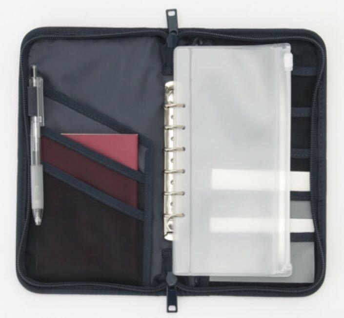 無印良品★パスポートケース・クリアポケット付き ネイビー 新品未使用_画像6
