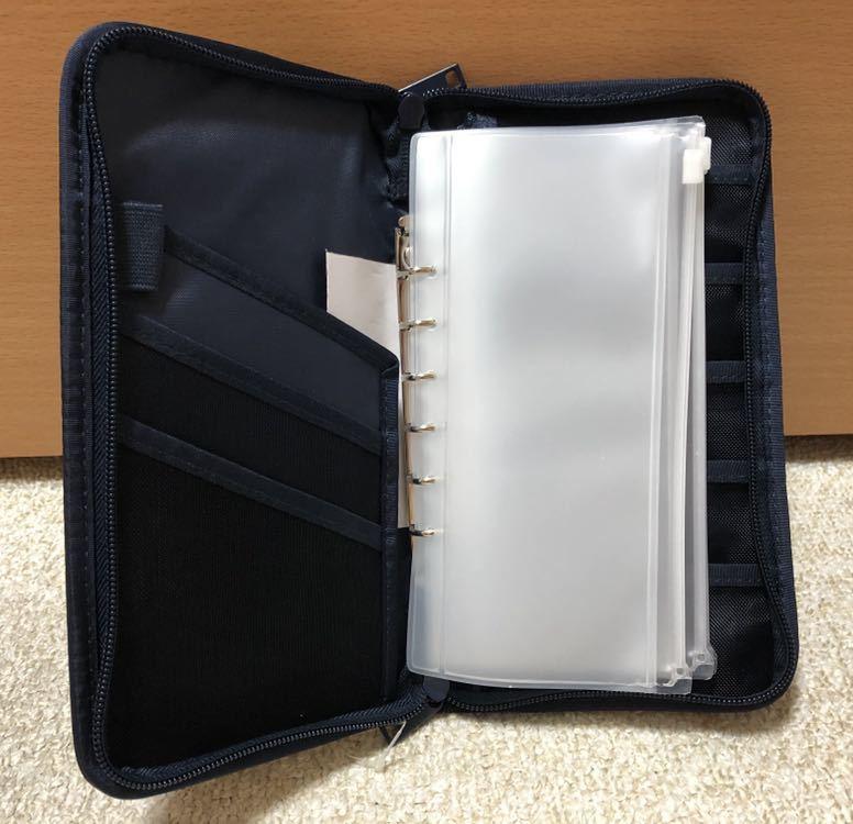 無印良品★パスポートケース・クリアポケット付き ネイビー 新品未使用_画像2