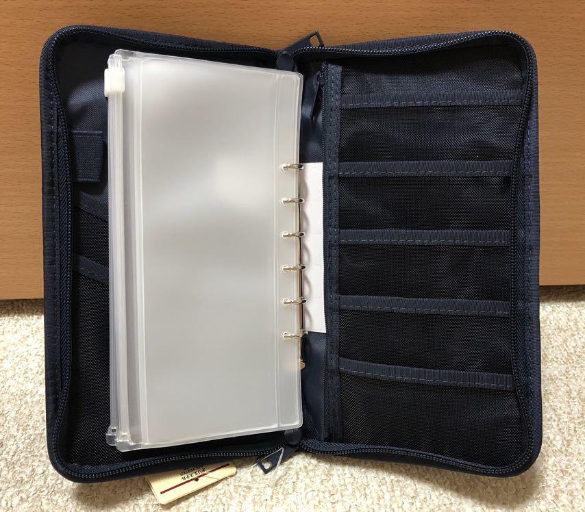 無印良品★パスポートケース・クリアポケット付き ネイビー 新品未使用_画像3