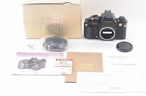 [未使用品] Canon New F-1 50周年記念モデル 24金バッジ AEファインダー 元箱一式 限定1000台 #4011 キャノン