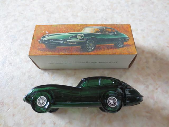 1960年ジャガーEタイプアンティークボトル★英国車・ルマン優勝車・JAGUAR E-TYPE・XKE・XKR・XJ・XF・昭和レトロ_当時のボックス入りです