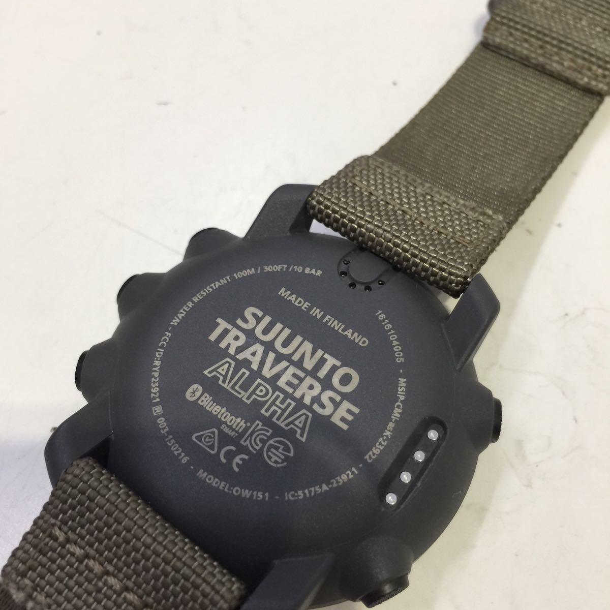 【SUUNTO スント】トラバースアルファフォリッジ TRAVERSE ALPHA FOLIAGE 腕時計 デジタル腕時計 デジタル アウトドアウォッチ アウトドア_画像9