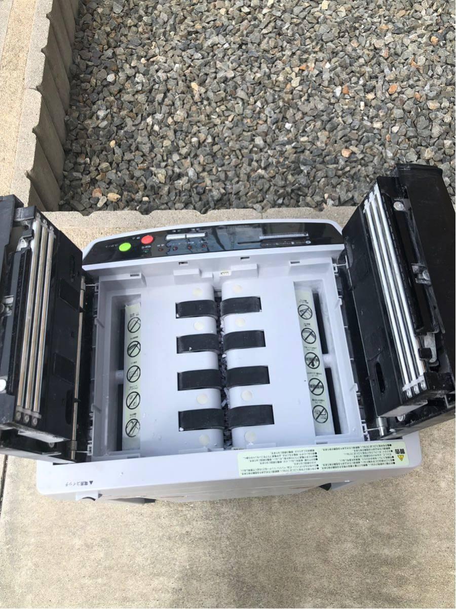 ★Bとま0475 アイリスオーヤマ A4 オートフィードシュレッダー AFS150C-H クロスカット 150枚自動裁断 業務用 事務機器 オフィス機器_画像6