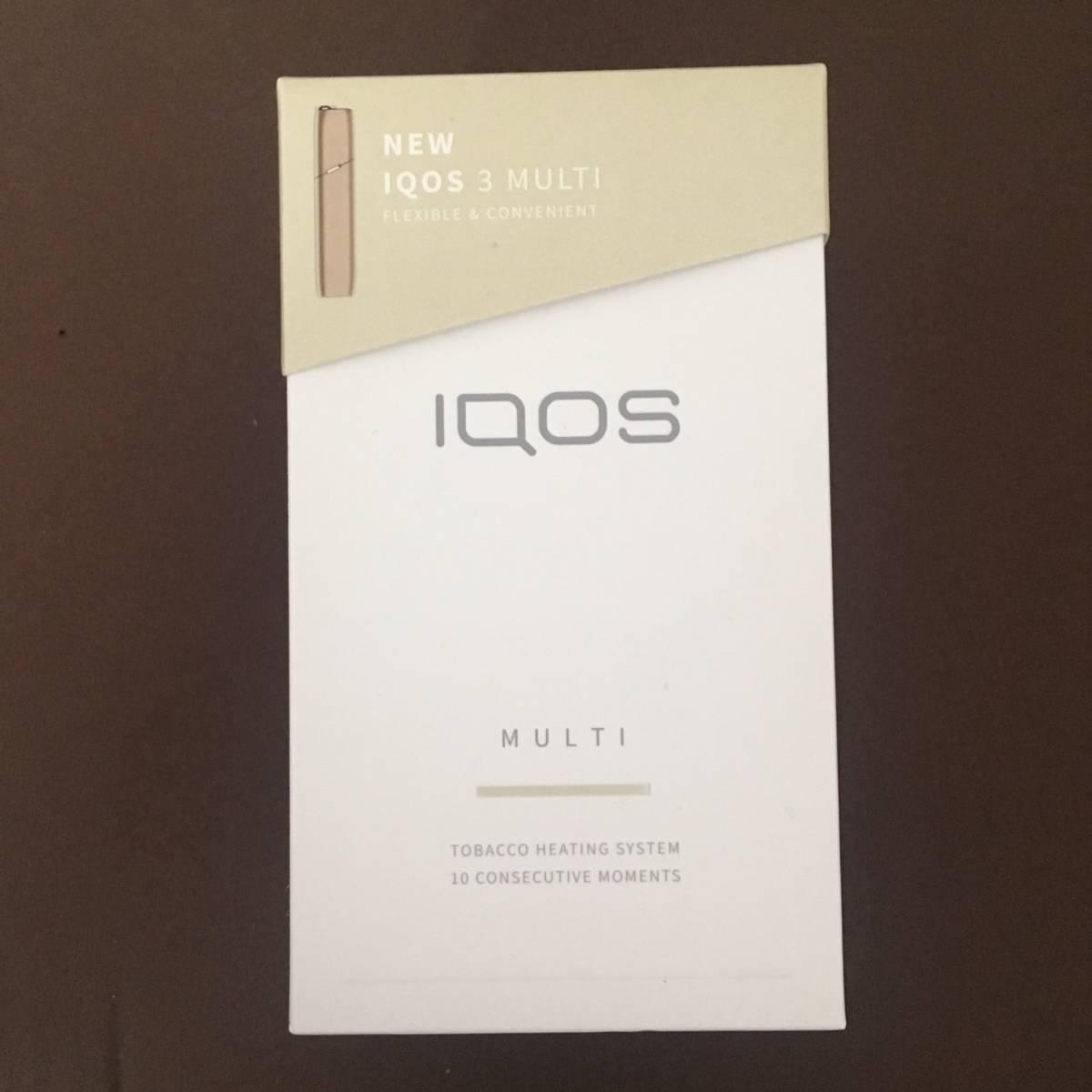 新品同様 IQOS 3 MULTI アイコス3 マルチ ブリリアントゴールド 本体 キット 保証付