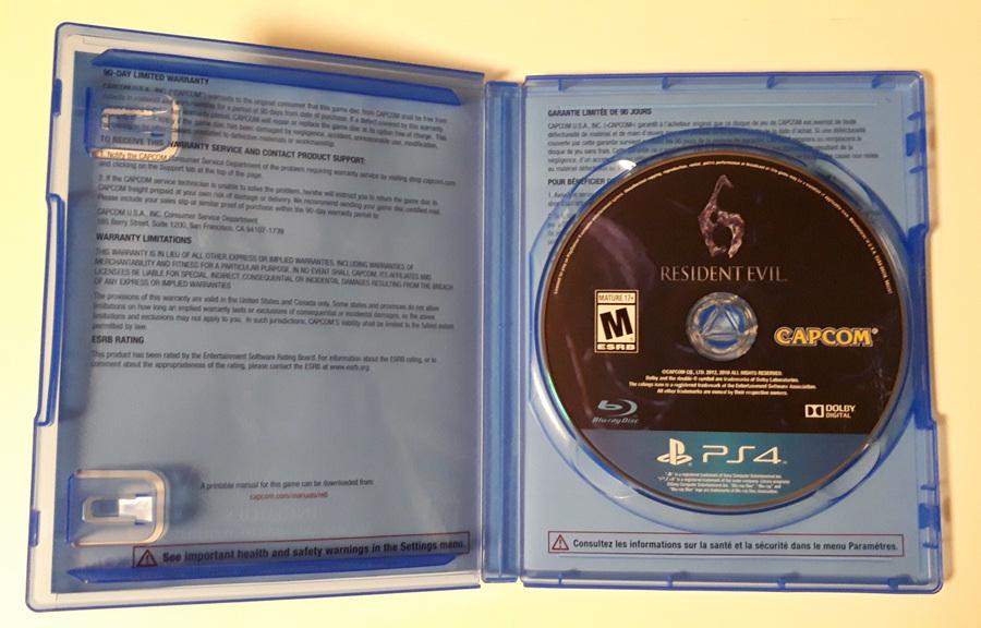 RESIDENT EVIL 6 バイオハザード6 北米版 PS4_画像3