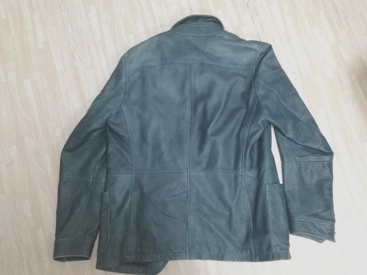 crocieraクロチェーラ 革ジャケット カラーライトブルー ビンテージ _画像5