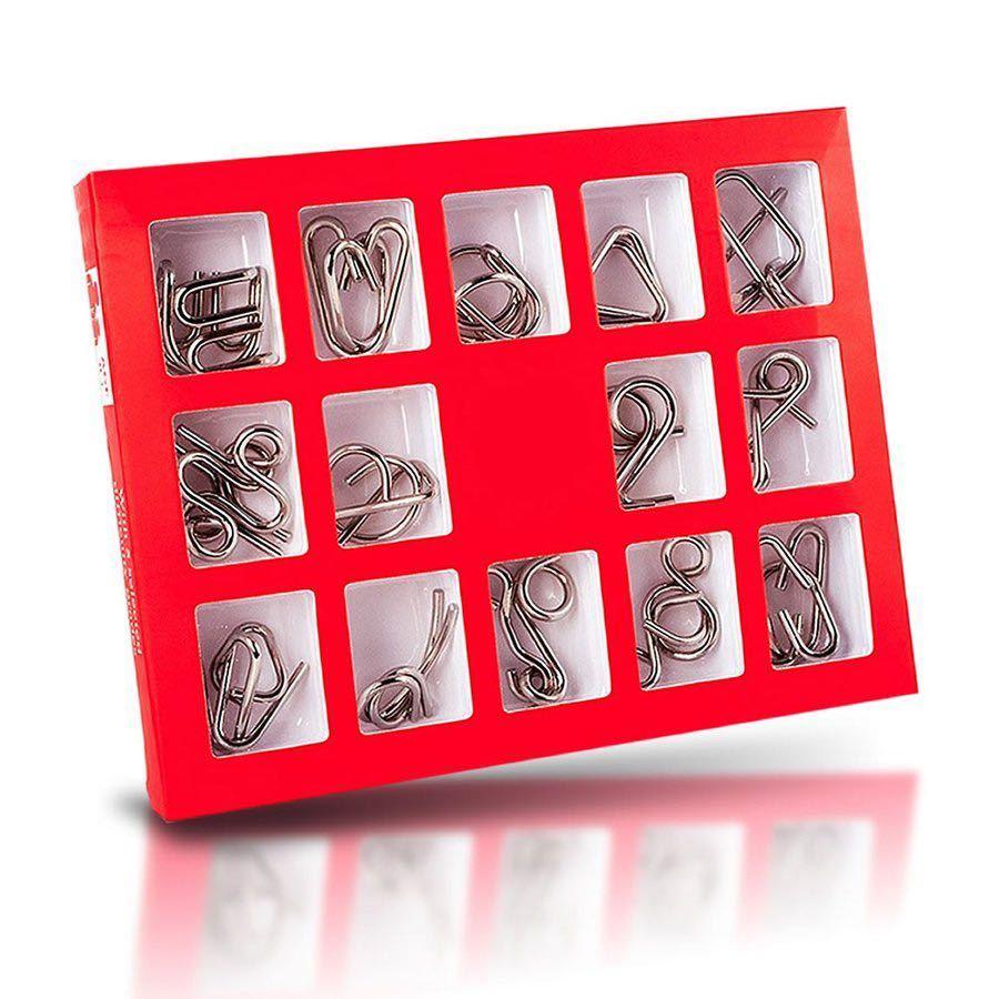 知恵の輪 スチールパズル 知的立体 遊び 玩具 知育 ゲーム 子供 大人 教育 勉強 謎解き (たのしい)_画像4