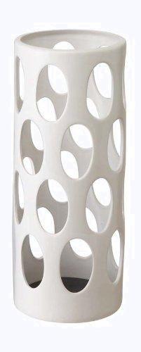 山崎実業 陶器傘立て アーバン ホワイト 6092 シック 温かみ 風合い 10本 収納 色あせない 軽い コンパクト 安定性_画像1