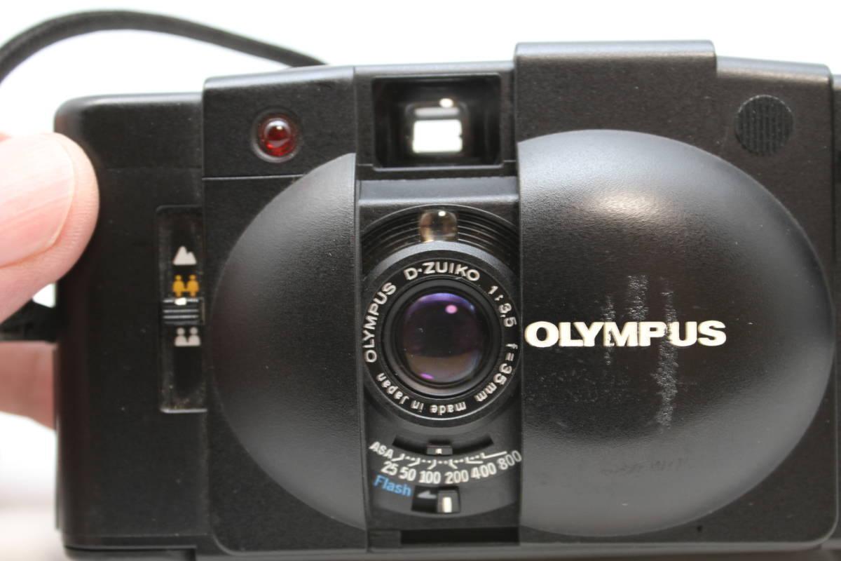 シャッターOK オリンパス OLYMPUS XA2 Electronic Flash A11付 フィルムカメラ レンズ D.ZUIKO 35mm f3.5_画像3