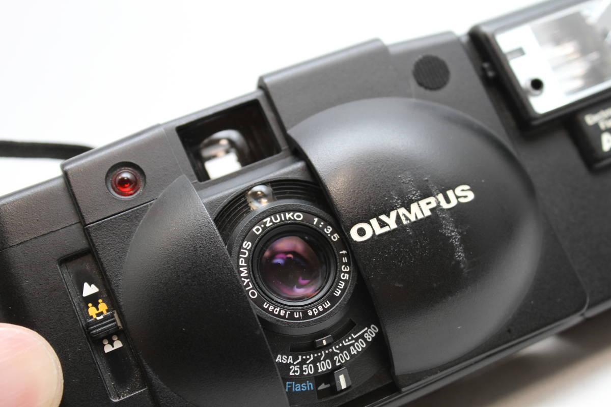 シャッターOK オリンパス OLYMPUS XA2 Electronic Flash A11付 フィルムカメラ レンズ D.ZUIKO 35mm f3.5_画像2