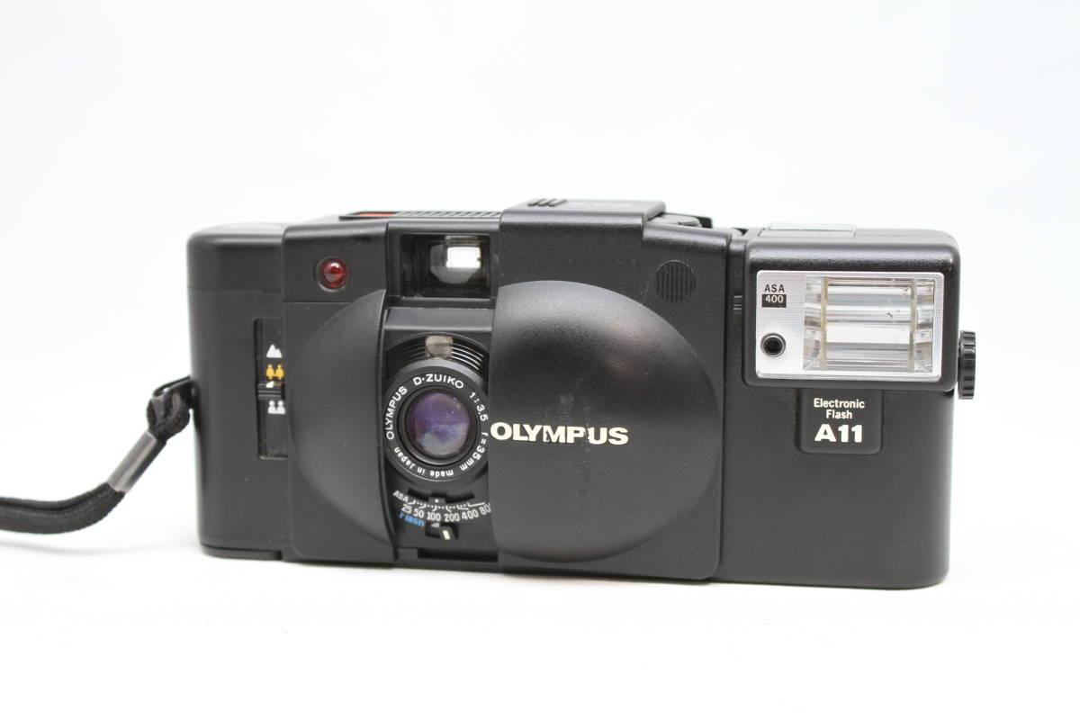 シャッターOK オリンパス OLYMPUS XA2 Electronic Flash A11付 フィルムカメラ レンズ D.ZUIKO 35mm f3.5