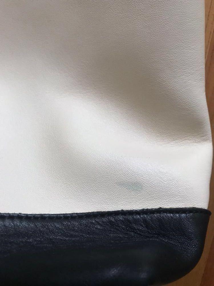 MARNI マルニ バイカラー レザートートバッグ ポーチ付き ワンハンドル ハンドバッグ オフホワイト×ベージュ 美品_画像5