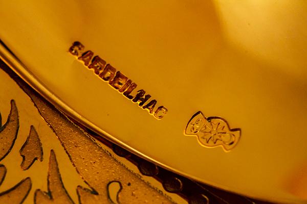 クリストフル 銀無垢 金鍍金 スプーン(大)×2 美品【n32】フランス・アンティーク・カトラリー_画像9