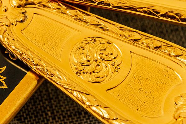 クリストフル 銀無垢 金鍍金 スプーン(大)×2 美品【n32】フランス・アンティーク・カトラリー_画像10
