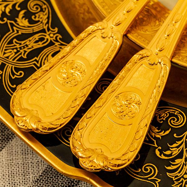 クリストフル 銀無垢 金鍍金 スプーン(大)×2 美品【n32】フランス・アンティーク・カトラリー_画像3