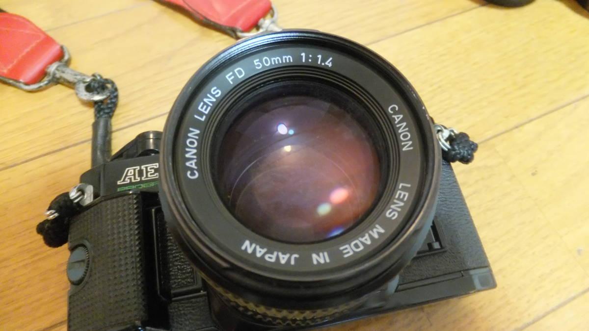 キャノン AE-1 プログラム canon ジャンク品 動作未確認 FD 50mm f1.4 シグマレンズ 35-105mm 70-210mm 付き_画像3