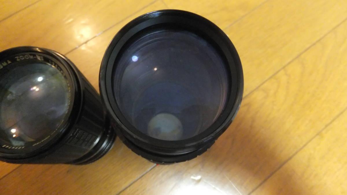 キャノン AE-1 プログラム canon ジャンク品 動作未確認 FD 50mm f1.4 シグマレンズ 35-105mm 70-210mm 付き_画像4