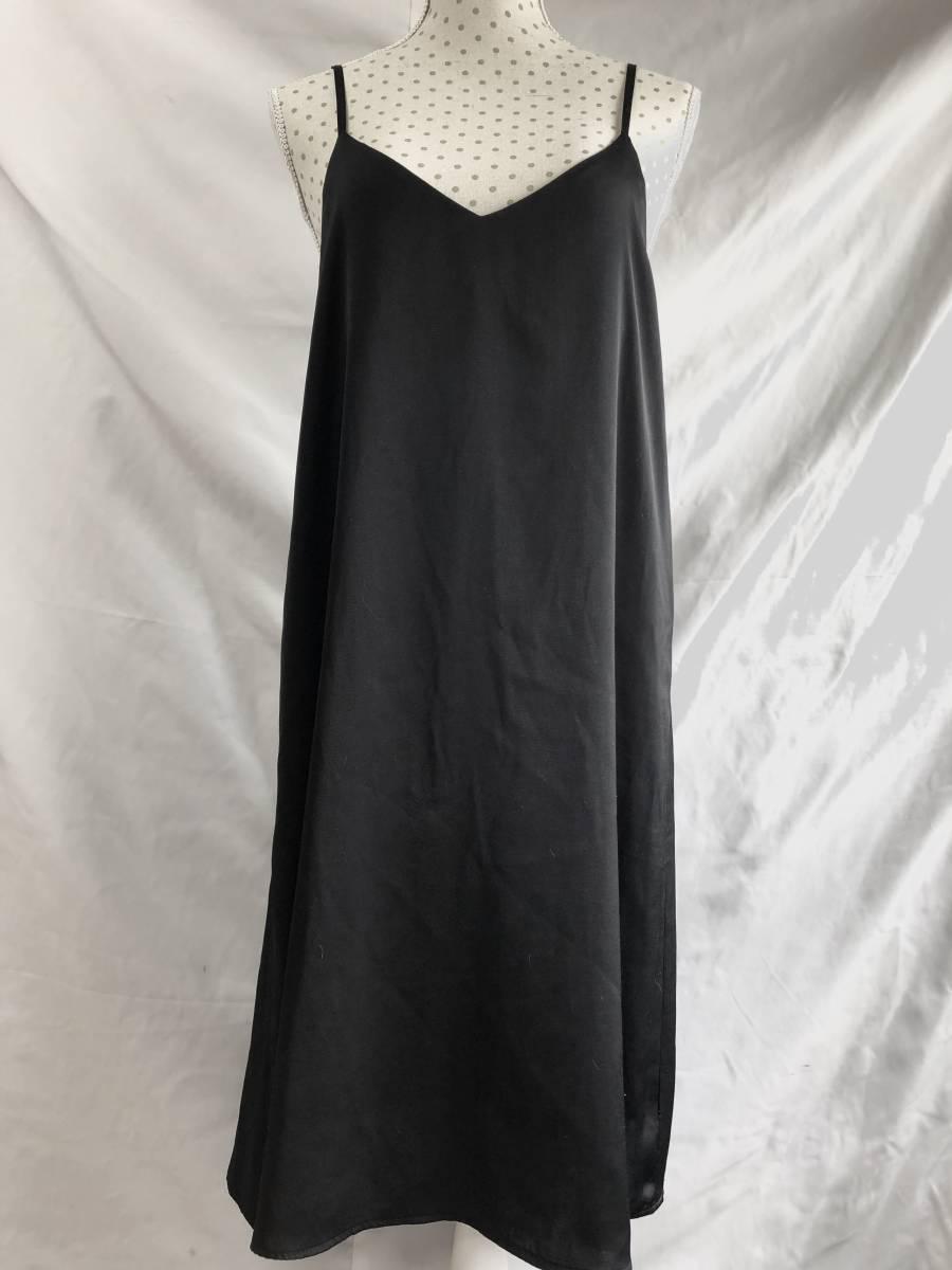 GU 黒 スリップドレス スリップ ワンピース 美品 M 送料250円