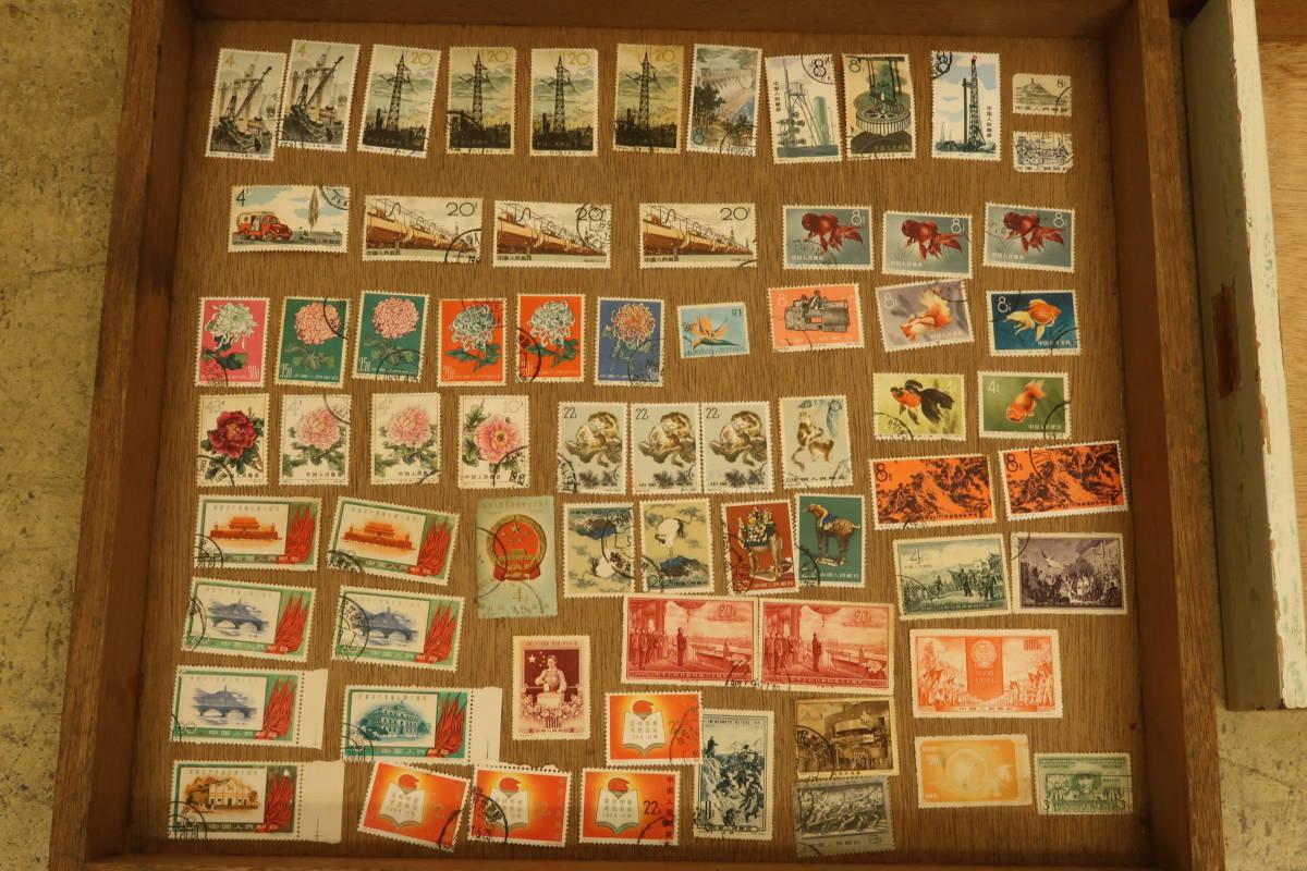 古い 中国 切手 いろいろまとめて たくさん 中華人民郵政 毛主席語録 パンダ 中華人民共和国成立十周年 消印有 使用済み_画像4