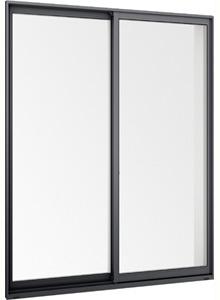 在庫品 アルミサッシ LowE アルゴンガス ペアガラス サーモスL 引違い窓 15718(16018) ブラック ②_画像2