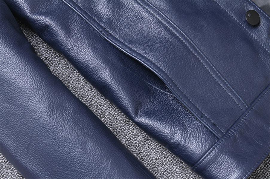 高級感満載!★まれな色 トップレイヤー牛革 本革 メンズ ショート様式 カッコイイ 個性 コート レザージャケット スリム◇-097_画像10