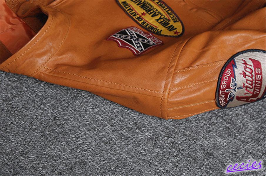 ★人気美品★稀少色★上層羊革 シンプル メンズ オートバイスタイルコートスリム レザージャケット カッコイイ 個性 コート◆-063_画像5