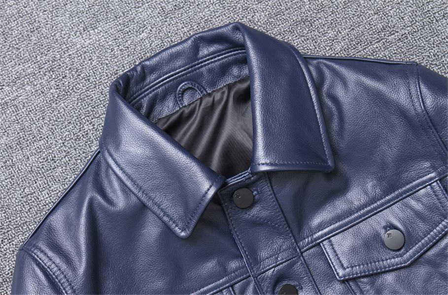 高級感満載!★まれな色 トップレイヤー牛革 本革 メンズ ショート様式 カッコイイ 個性 コート レザージャケット スリム◇-097_画像6