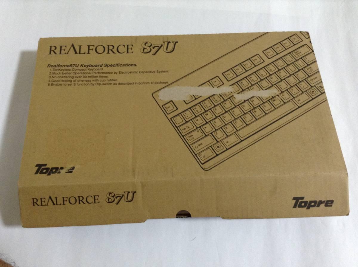 東プレ キーボード REALFORCE87UB テンキーレス英語配列 ブラック SE17T0