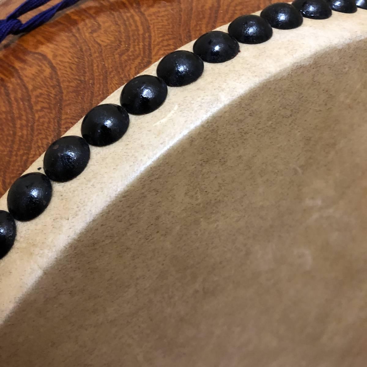 ■和楽器 平太鼓 神輿太鼓 和太鼓 直径40cm ソフトケース バチ付き 祭事_画像5