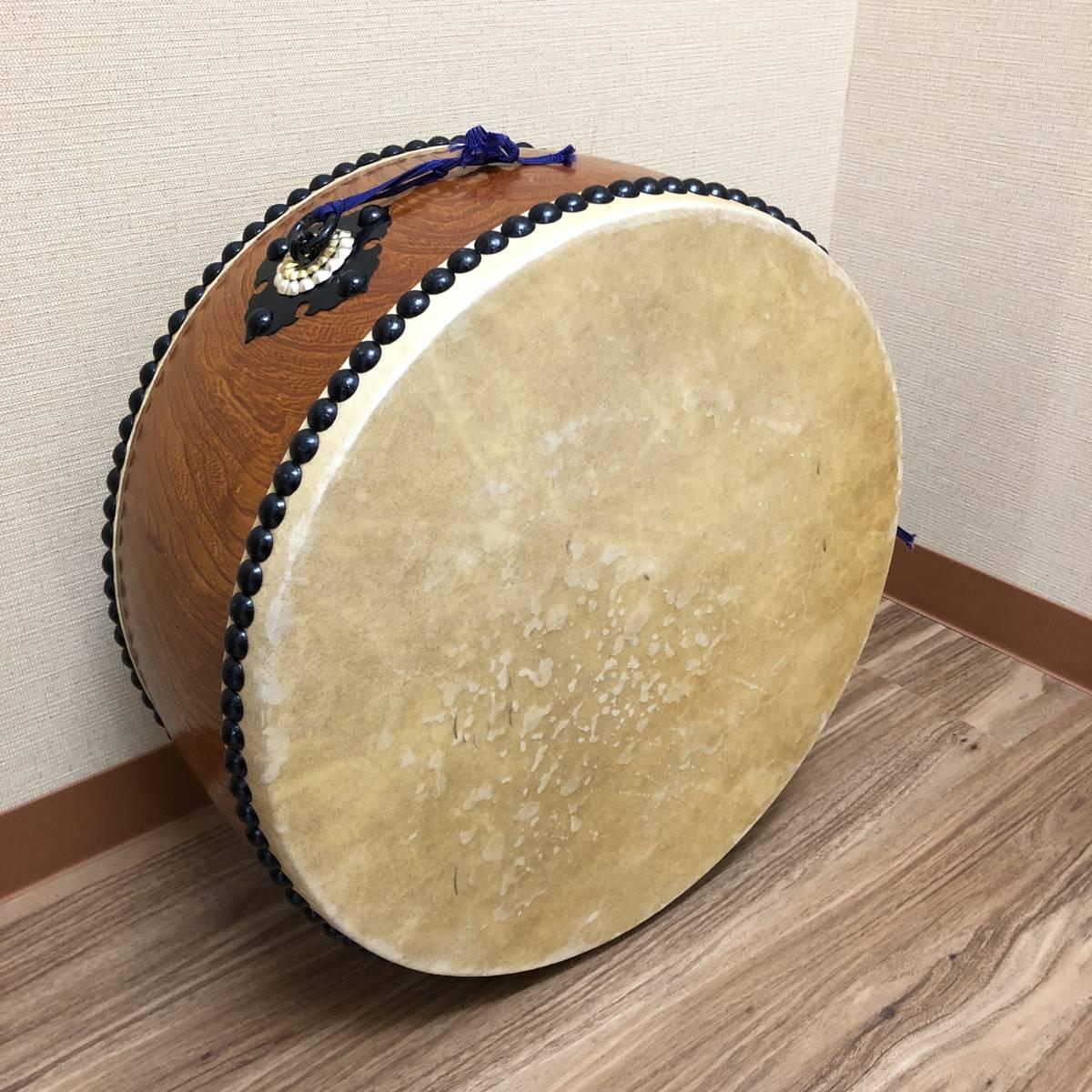 ■和楽器 平太鼓 神輿太鼓 和太鼓 直径40cm ソフトケース バチ付き 祭事_画像1