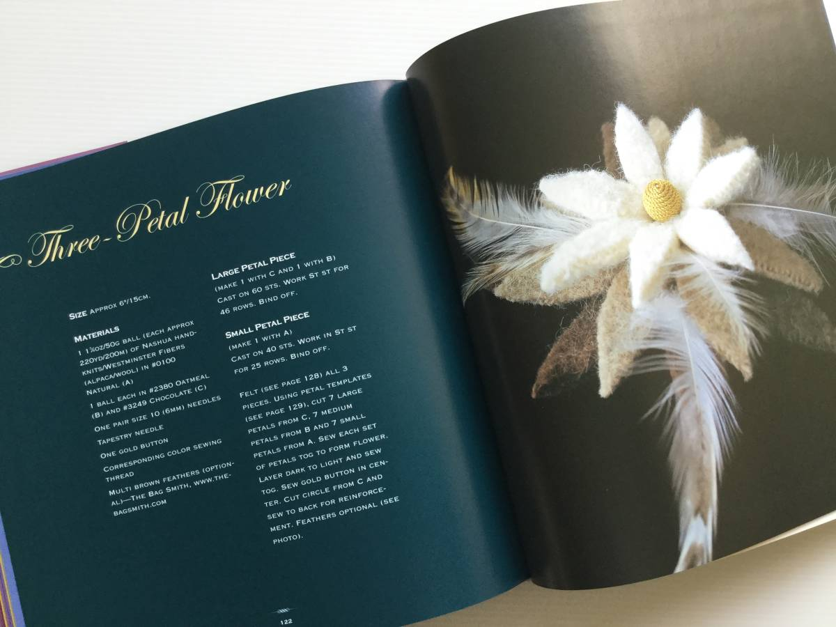 ■ARTBOOK_OUTLET■ 86-096 ★ 手芸本 編んで咲いた花々 Knitted Flowers Nicky Epstein ハードカバー オールカラー 136ページ_画像5
