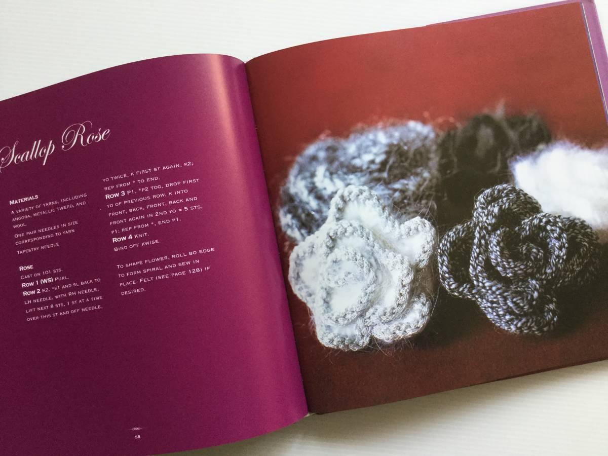 ■ARTBOOK_OUTLET■ 86-096 ★ 手芸本 編んで咲いた花々 Knitted Flowers Nicky Epstein ハードカバー オールカラー 136ページ_画像9
