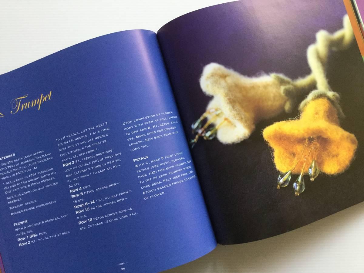 ■ARTBOOK_OUTLET■ 86-096 ★ 手芸本 編んで咲いた花々 Knitted Flowers Nicky Epstein ハードカバー オールカラー 136ページ_画像4