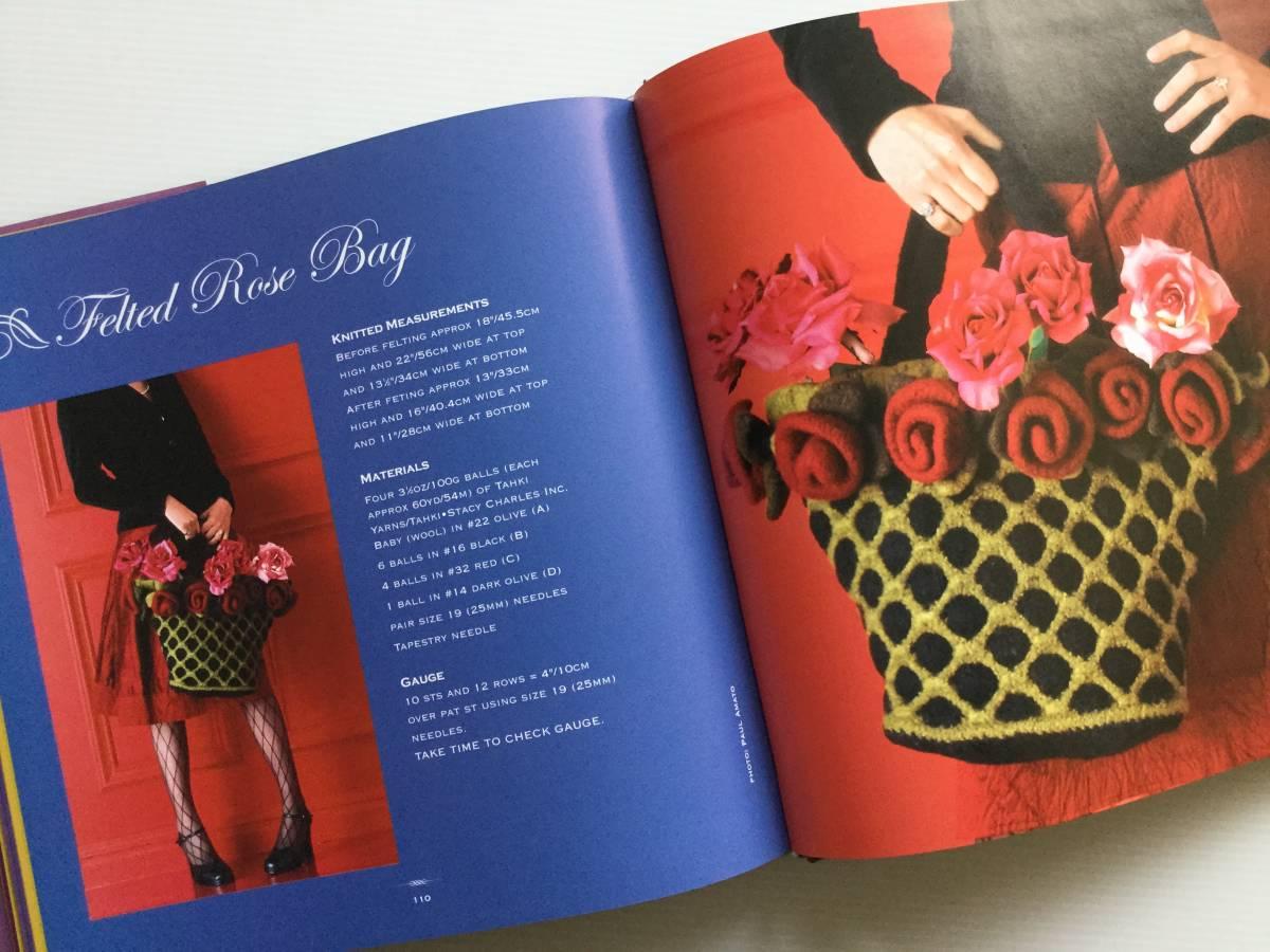 ■ARTBOOK_OUTLET■ 86-096 ★ 手芸本 編んで咲いた花々 Knitted Flowers Nicky Epstein ハードカバー オールカラー 136ページ_画像6