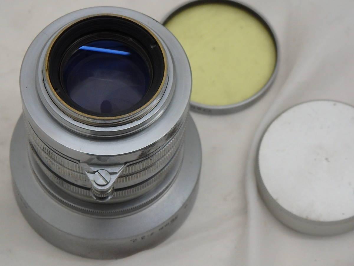 美品 CANON LENS 50mm f1.8 Lマウント フード付きレンズ_画像3