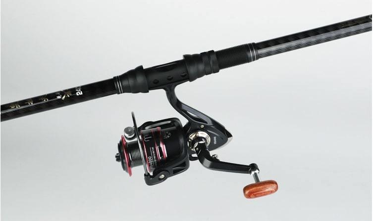 2.4m 釣り竿 ロッドルアーセット スピニングリール 超硬 海釣り湖釣り