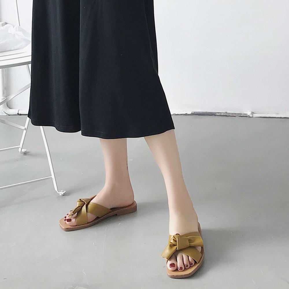 上品 サンダル レディース ミュール 靴 ビーチサンダル スリッパ フラットシューズ ぺたんこ 美脚 ローヒール_画像5