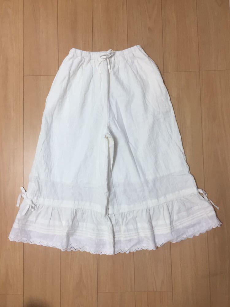 サマンサモスモス SM2 裾レースペチパンツ パンツ ペチパンツ 白 新品