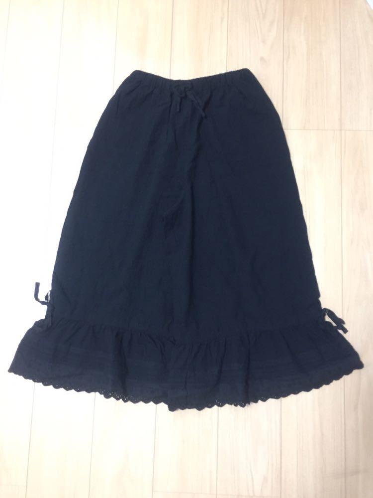 サマンサモスモス SM2 裾レースペチパンツ パンツ ペチパンツ 黒 新品