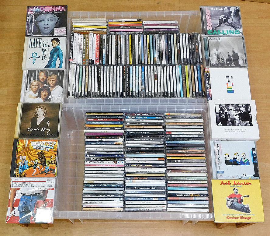 処分品 洋楽CD 約200枚まとめ売り大量セット プリンス マドンナ Oasis COLDPLAY The Clash Jack Johnson キャロルキング ABBA Green Day