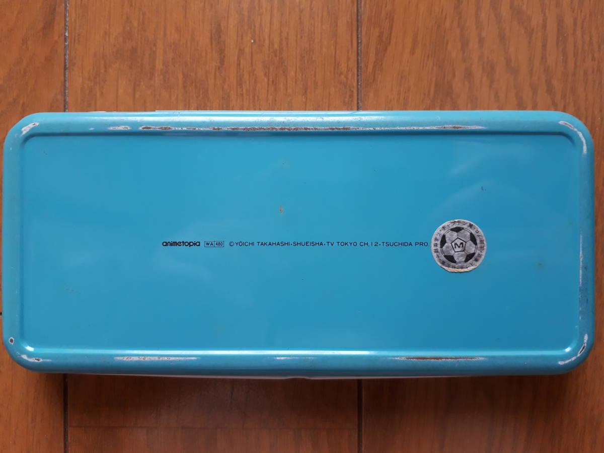 キャプテン翼 文具セット 缶ペン(ジャンク) 定規(新品) 消しゴム(新品) ものさし_画像5
