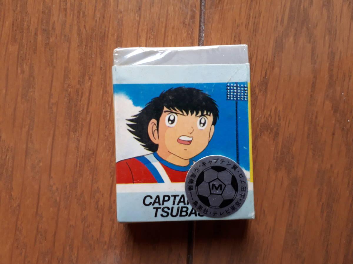 キャプテン翼 文具セット 缶ペン(ジャンク) 定規(新品) 消しゴム(新品) ものさし_画像7