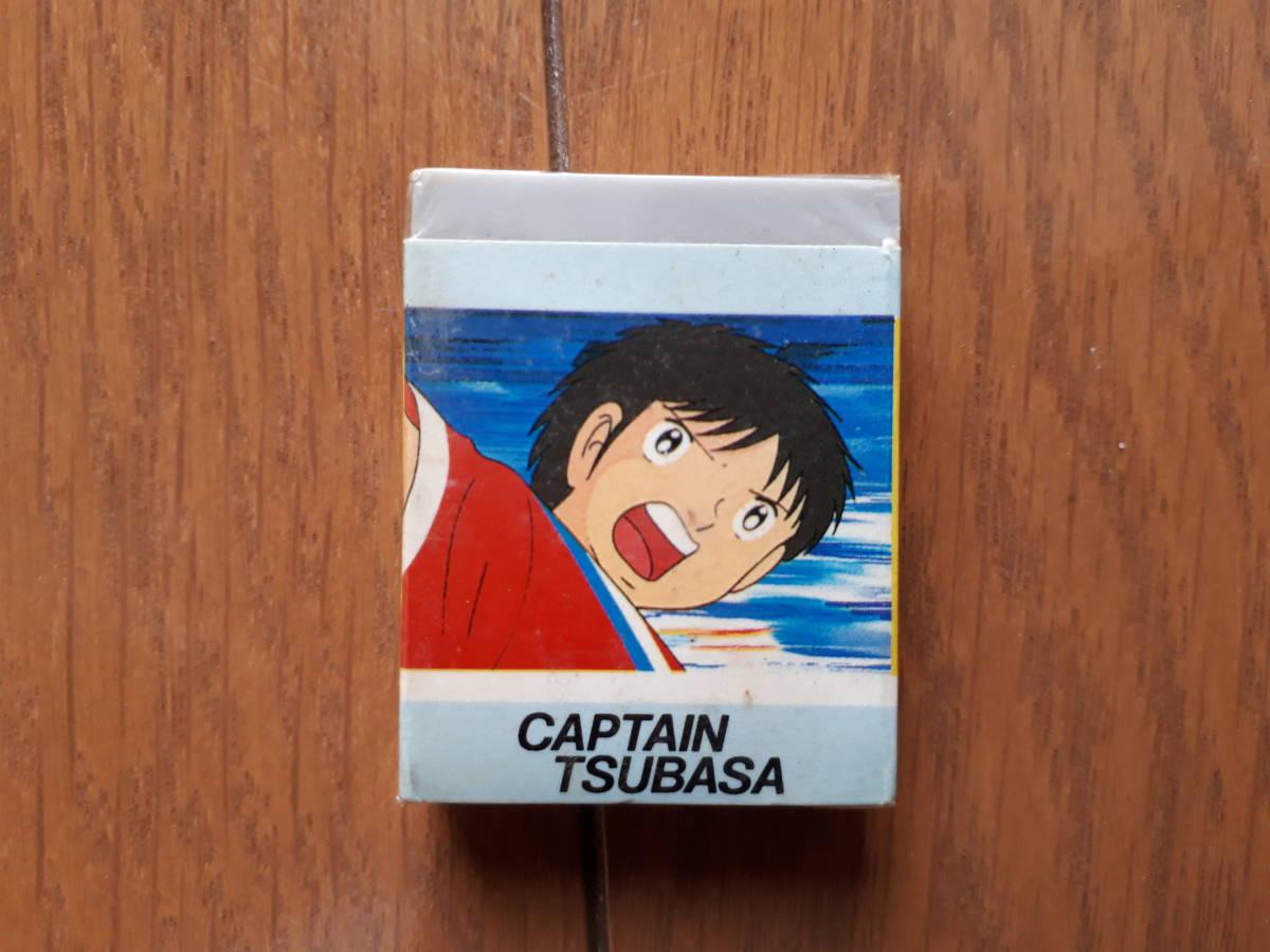 キャプテン翼 文具セット 缶ペン(ジャンク) 定規(新品) 消しゴム(新品) ものさし_画像8